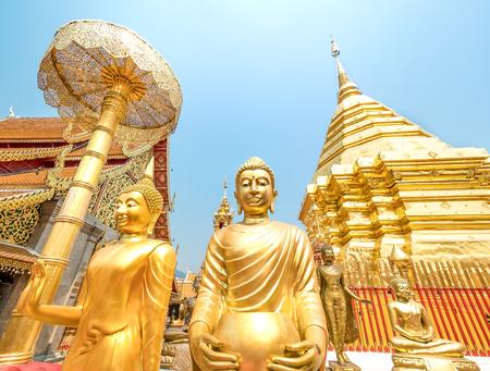 Wat Phra That Doi Suthep, a Theravada Buddhist temple in Chiang Mai, Thailand. Stok Fotoğraf