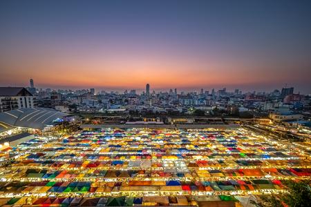 Train Night Market Ratchada in Bangkok.