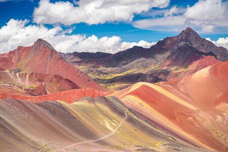 Rainbow Mountain, the landmark of Peru.