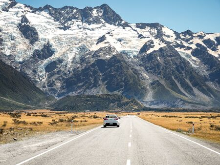 Road trip at Mount Cook National Park in New Zealand.