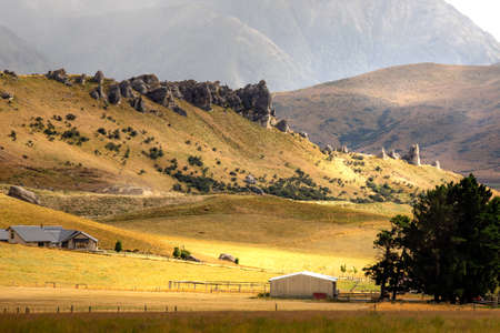 Kura Tawhiti, Castle Hill Conservation Area, the famous tourist attraction in Arthur's Pass of New Zealand. Editorial