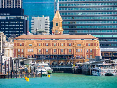 Auckland Ferry Terminal sometimes called the Downtown Ferry Terminal or simply Ferry Building, is the hub of the Auckland CBD ferry network in New Zealand. Editorial