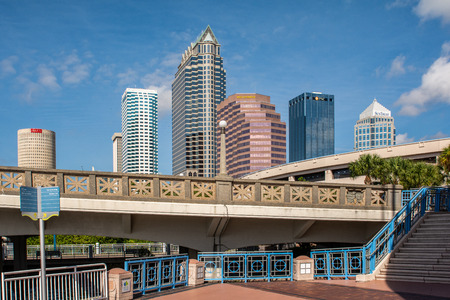Tampa Skyline on a Summer Day