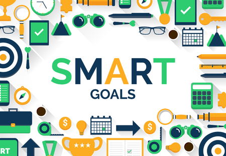 Setting SMART Goals Concept Vector Illustration With Icons