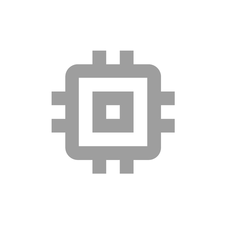 Grey And White News Technology Icon