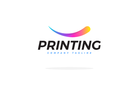 Abstract Colorful Logo For Printing Company Vector