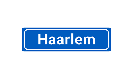 Blue And White Vector City Sign Of Haarlem In The Netherlands  イラスト・ベクター素材