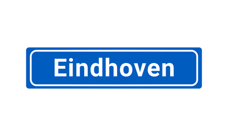 Blue And White Vector City Sign Of Eindhoven In The Netherlands