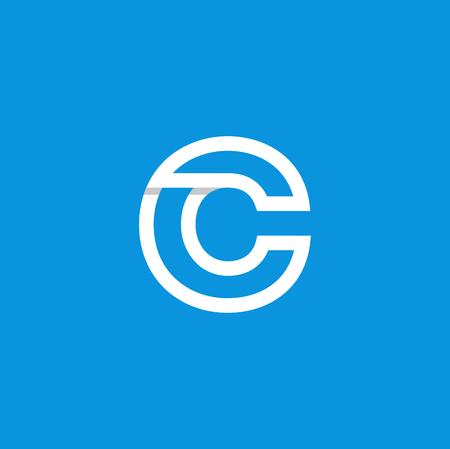 Vector moderno logotipo letra C. C carta diseño vectorial