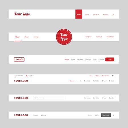 Clean Website Header Banner Design Vector