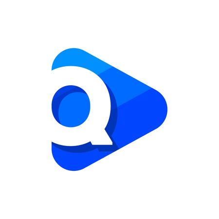 Vector Logo Letter Q. Q Letter Design Vector