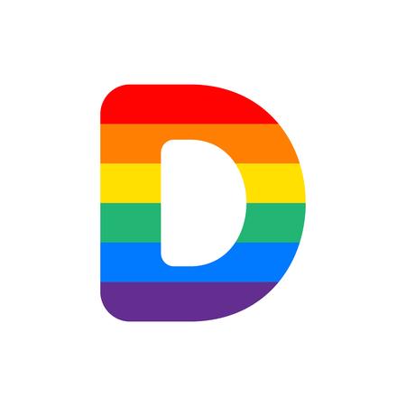 Rainbow Vector Logo Letter D. D Letter Design Vector