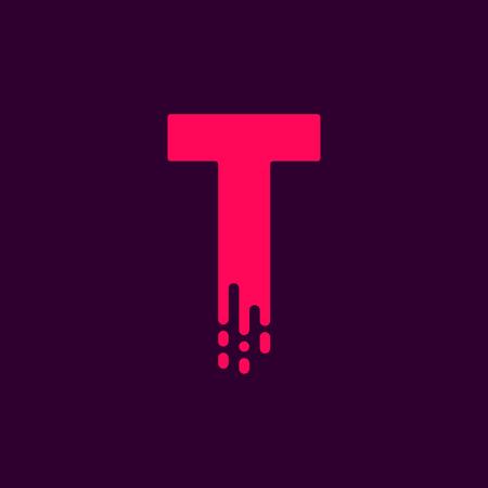 Vector Logo Letter T. T Letter Design Vector
