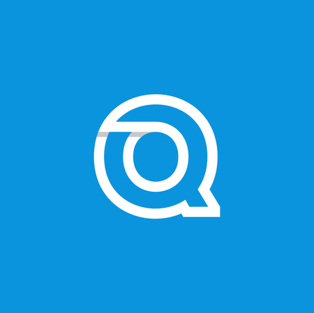 Modern Vector Logo Letter Q. Q Letter Design Vector Ilustracja