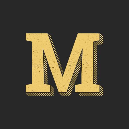 Vintage Vector Logo Letter M. M Letter Design Vector
