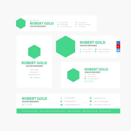 Vektor-Illustration des Unternehmens-E-Mail-Signatur-Designs