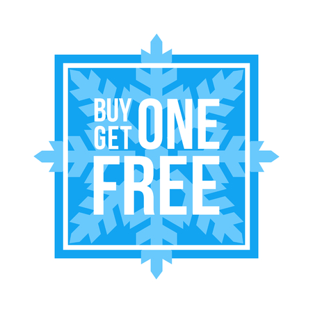 Blue Shop Vector Sign For A Buy One Get One Free Off Clearance Иллюстрация