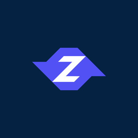 Modern Vector Logo Letter Z. Z Letter Design Vector With Arrows Around Forming a Z Shape