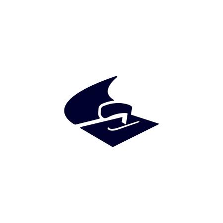 Logo de plâtrier stuc vecteur isolé bleu