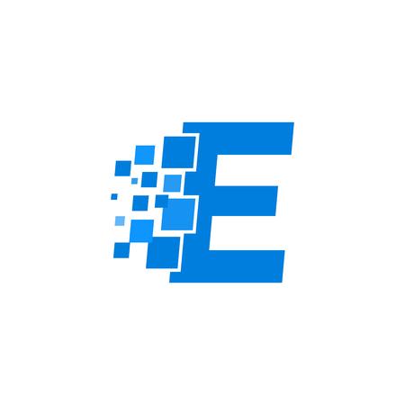 Modern Vector Logo Letter E. E Letter Design Vector Illustration