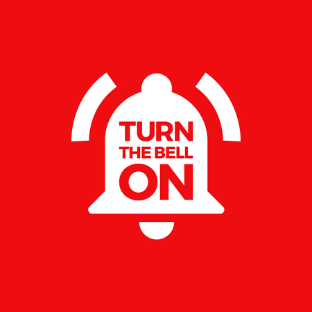 Illustration Of A Bell Ringing. Turn The Bell On When You Subscribe. Ilustração