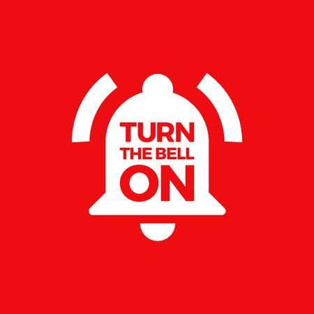 Ilustración De Un Timbre De Campana. Enciende la campana cuando te suscribes.