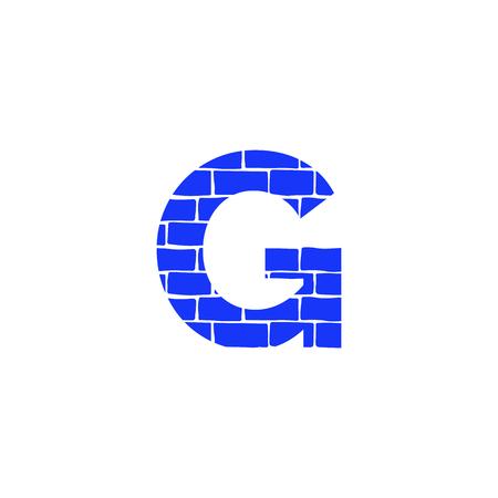 Bricklayer Vector Logo Letter G. G Letter Design Vector