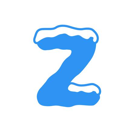 Snow and Ice Vector Logo Letter Z. Z Letter Design Vector