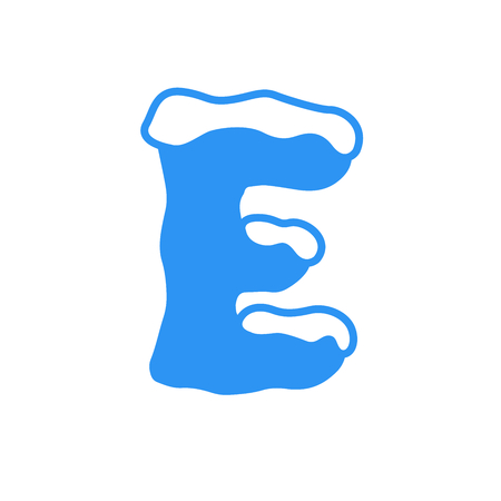 Snow and Ice Vector Logo Letter E. E Letter Design Vector 矢量图像