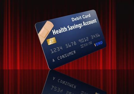 Health Savings Account Debit Card. Banco de Imagens