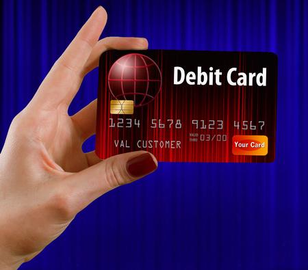 신용 카드는 가상의 이름을 사용합니다. 스톡 콘텐츠