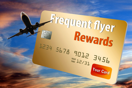 This is a generic air miles reward credit card illustration. Imagens