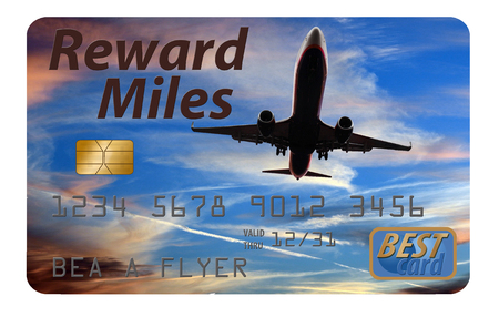 This is a generic air miles reward credit card illustration. 写真素材