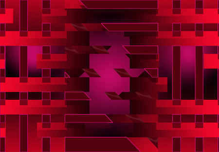 Here is an abstract red, black and pink  background frame. This is an illustration.