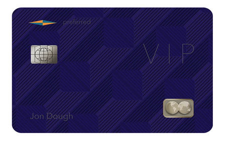 Here is a VIP or preferred customer credit card. It is a generic illustration with generic logos and names etc.