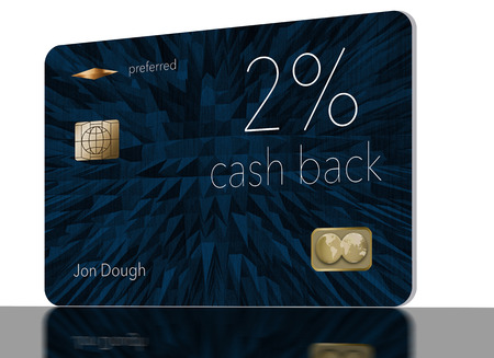 Here is a 2-percent cash back rewards credit card. It is a generic illustration with generic logos and names etc.