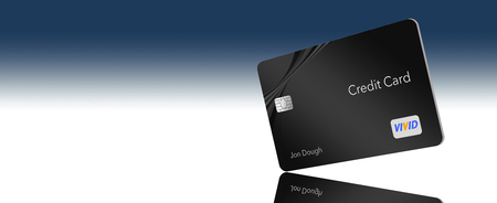 SPACE FOR TEXT CREDIT CARD- Here is a generic credit card with generic non-infringing logos and type that is displayed with a large amount of white space to the placement of text.