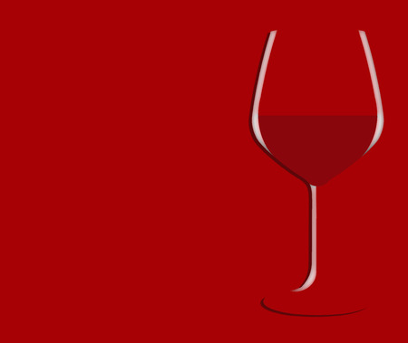 Im seeing red. Here is a glass of red wine on a red background with text. This is an illustration.