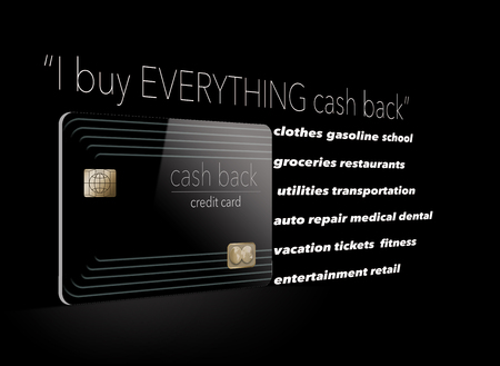 I buy everything with a cash back credit card. Why not? Its free money and here is an illustration that makes that point. Stockfoto