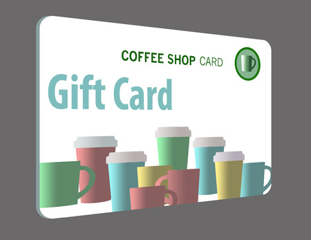 This is a pre-paid gift card. Prepaid card is isolated on background. Stock Photo - 110837805