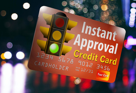 Here is an instant approval credit card. A traffic light that is green gets across the point it is an all go situation for getting this card quickly.