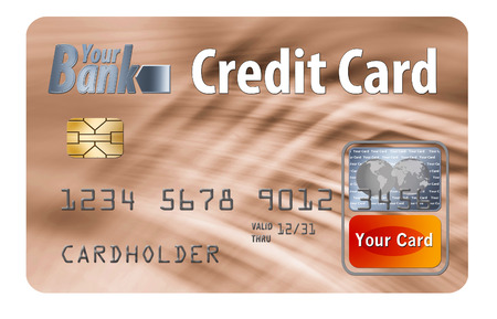 Here is a generic, mock (safe to publish) credit card. This is an illustration.