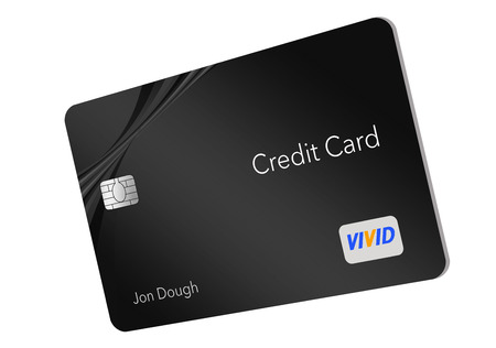 MODERN DESIGN CREDIT CARD- Here is a generic credit card  with a minimal amount of graphics on the front that is the trend for modern credit card designs. This is an illustration.