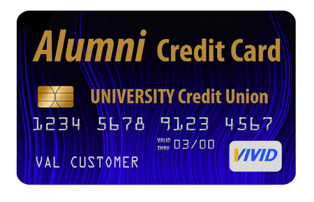 This is a mock college alumni credit union credit card.