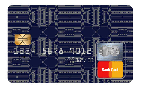 Here is a generic, mock (safe to publish)  credit card.