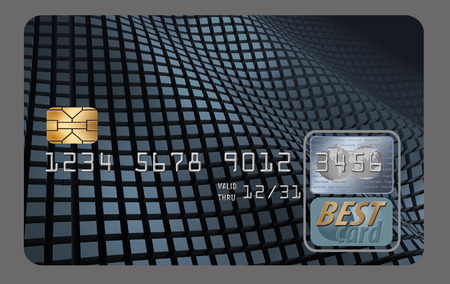 Here is a generic, mock (safe to publish) credit or debit card that has blank space for your text. This is an illustration. Banco de Imagens