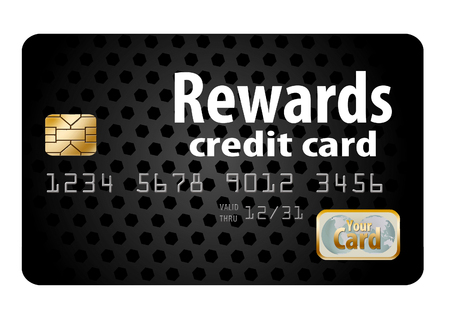 Here is a generic, mock (safe to publish)  rewards credit card. This is an illustration. Stok Fotoğraf