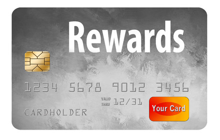 Here is a generic, mock rewards  credit card. This is an illustration. Stock Photo