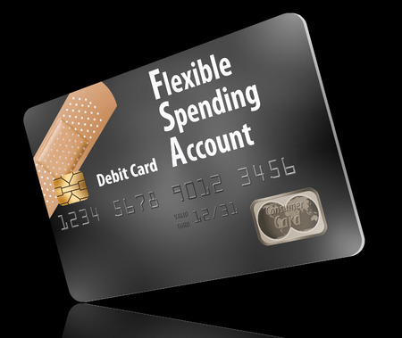 Here is a flexible spending account debit card. This FSA card is part of a health insurance plan.