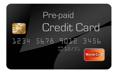 Here is a generic, mock pre-paid secured  credit card. This is an illustration. Stock Photo